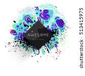 trendy geometric flat pattern ... | Shutterstock .eps vector #513415975
