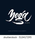yoga studio concept logo design....   Shutterstock .eps vector #513417295