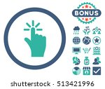 click icon with bonus elements. ...