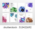 annual report brochure template ... | Shutterstock .eps vector #513422692