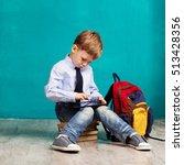 cheerful little boy with big...   Shutterstock . vector #513428356