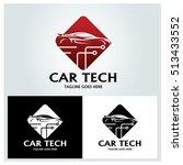 car tech logo design template ... | Shutterstock .eps vector #513433552