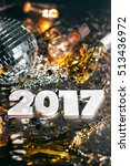 2017 disco ball new year's eve... | Shutterstock . vector #513436972