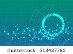 digital technology world.... | Shutterstock .eps vector #513437782