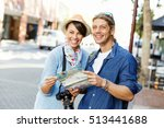 girl and guy on the streets of... | Shutterstock . vector #513441688