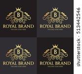 royal brand logo design... | Shutterstock .eps vector #513442546