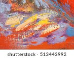 artists oil paints multicolored ... | Shutterstock . vector #513443992