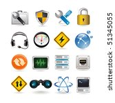 illustration of network icon set