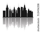 buildings of big city design | Shutterstock .eps vector #513456208