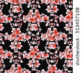 seamless pattern small gray and ... | Shutterstock . vector #513457138