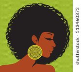 profile silhouette  african... | Shutterstock .eps vector #513460372