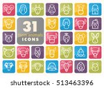 Set Of Farm Animals Icons....