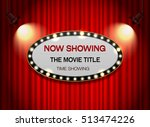 theater sign elip on curtain... | Shutterstock .eps vector #513474226