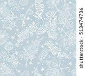 seamless pattern with fir... | Shutterstock .eps vector #513474736