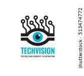 tech vision   vector logo... | Shutterstock .eps vector #513474772