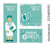 medical help banners set with... | Shutterstock .eps vector #513485092
