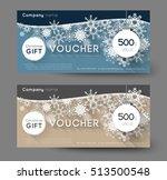 christmas gift voucher with...   Shutterstock .eps vector #513500548