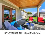 traditional back porch with... | Shutterstock . vector #513508732