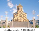 the holy trinity cathedral of... | Shutterstock . vector #513509626