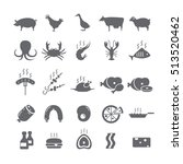 icons on a white background... | Shutterstock .eps vector #513520462