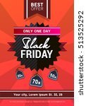 vector black friday sale poster | Shutterstock .eps vector #513525292