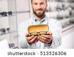 handsome ophthalmologist... | Shutterstock . vector #513526306