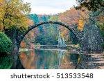 rakotzsee with rakotz bridge ... | Shutterstock . vector #513533548