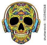 vector colorful skull graphics... | Shutterstock .eps vector #513540268