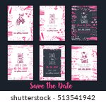 save tha date invitationon set...   Shutterstock .eps vector #513541942