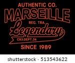 legendary   vintage t shirt... | Shutterstock . vector #513543622