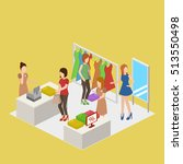 clothes store. shopping center... | Shutterstock .eps vector #513550498