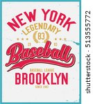 vintage varsity graphics and... | Shutterstock .eps vector #513555772