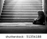 monochrome photo of homeless... | Shutterstock . vector #51356188
