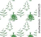 christmas tree pattern green | Shutterstock .eps vector #513569125