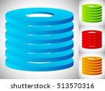 abstract cylinder   barrel icon ... | Shutterstock .eps vector #513570316