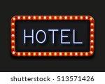 modern retro billboard... | Shutterstock . vector #513571426