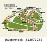 loop isolated race track of... | Shutterstock .eps vector #513573256