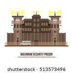 maximum security prison with... | Shutterstock .eps vector #513573496