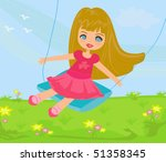 cute girl   Shutterstock .eps vector #51358345