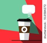 coffee break on business. paper ...   Shutterstock .eps vector #513584272