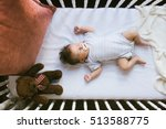 Adorable Newborn Lies In The...