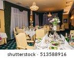 luxury restaurant banquet... | Shutterstock . vector #513588916