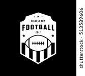 american football emblem flat... | Shutterstock .eps vector #513589606