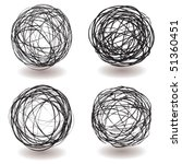 set of scribble ball icons with ... | Shutterstock .eps vector #51360451