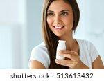 diet nutrition. closeup... | Shutterstock . vector #513613432