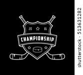 hockey championship emblem line ... | Shutterstock .eps vector #513631282