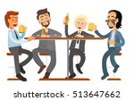 male friends drinking beer in a ... | Shutterstock .eps vector #513647662
