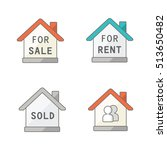 real estate vector icons | Shutterstock .eps vector #513650482