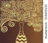 champagne. beautiful pattern.... | Shutterstock .eps vector #513653152