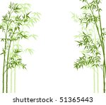 vector illustration of a bamboo ... | Shutterstock .eps vector #51365443